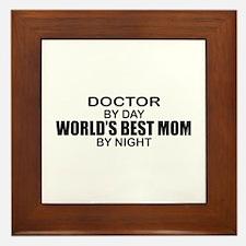 World's Best Mom - Doctor Framed Tile