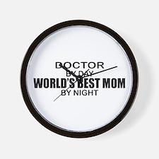 World's Best Mom - Doctor Wall Clock
