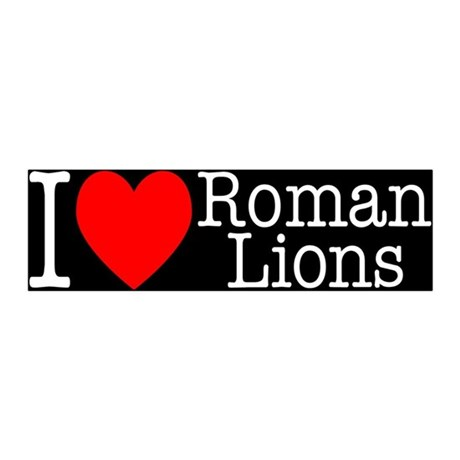 I Love Roman Lions 20x6 Wall Peel
