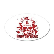 Mutiny's In The Air (Red) 20x12 Oval Wall Peel