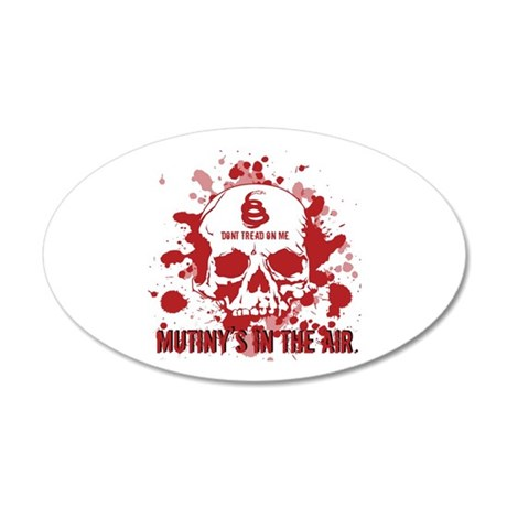 Mutiny's In The Air (Red) 35x21 Oval Wall Peel