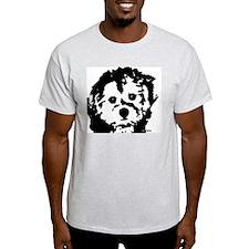 porkie - black & white T-Shirt