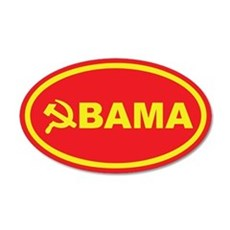 Obama Hammer & Sickle 35x21 Oval Wall Peel