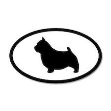 Norwich Terrier 35x21 Oval Wall Peel