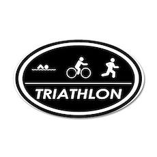 Triathlon Oval Black 20x12 Oval Wall Peel