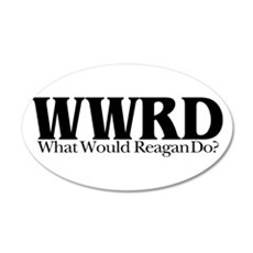 WWRD What Would Reagan Do 20x12 Oval Wall Peel