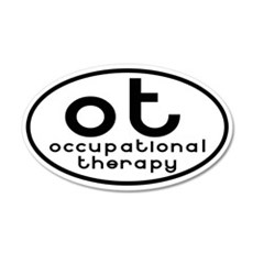 ot occupational therapy 20x12 Oval Wall Peel