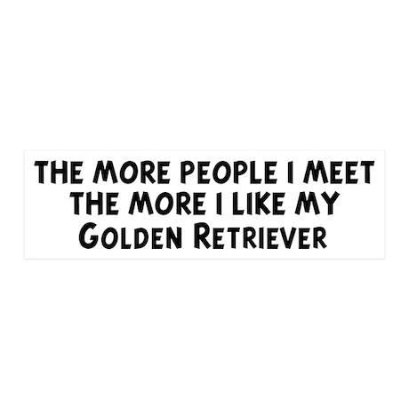 Golden Retriever: people I me 20x6 Wall Peel