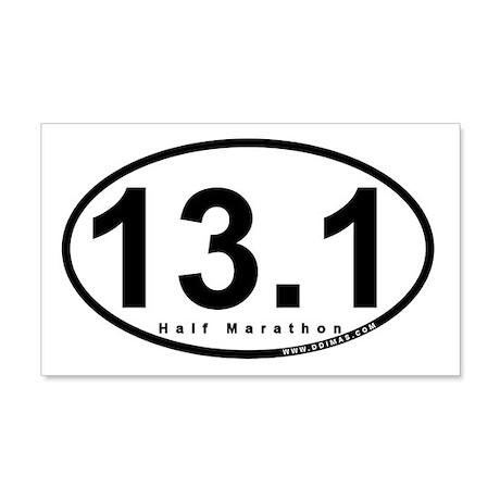 Half Marathon 13.1 Miles 20x12 Wall Peel