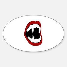 Bite Me! - Fangs Sticker (Oval)