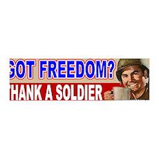 Got Freedom? Thank A Soldier 36x11 Wall Peel