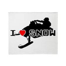 I Heart Snow Throw Blanket