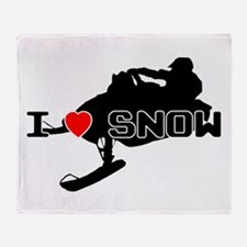 I Heart Snow Throw Blanket