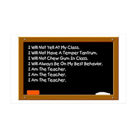 I Am The Teacher 35x21 Wall Peel