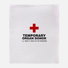 Temporary Organ Donor Throw Blanket