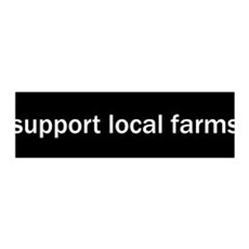 Support Local Farms 36x11 Wall Peel