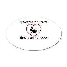 Bunny Love 20x12 Oval Wall Peel
