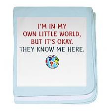 I'm In My Own Little World baby blanket