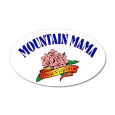 Mountain Mama 20x12 Oval Wall Peel