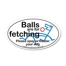 Fetching balls 20x12 Oval Wall Peel