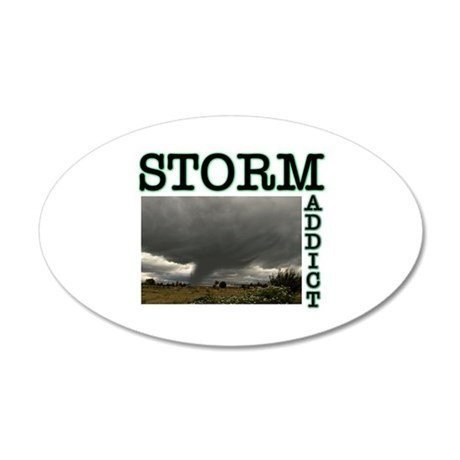 Storm Addict 35x21 Oval Wall Peel
