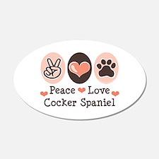 Peace Love Cocker Spaniel 20x12 Oval Wall Peel