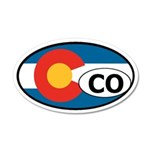 Colorado State Flag 20x12 Oval Wall Peel