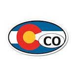 Colorado State Flag 35x21 Oval Wall Peel