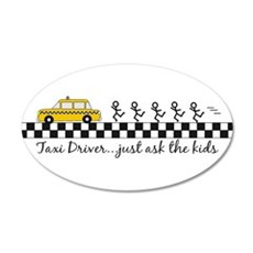 Taxi Driver 20x12 Oval Wall Peel