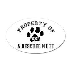 Rescued Mutt - 20x12 Oval Wall Peel