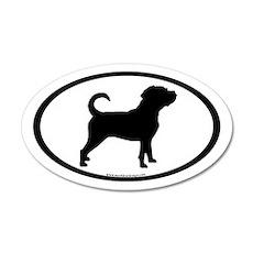 Puggle Dog Oval (inner border) 20x12 Oval Wall Pee