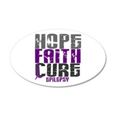 HOPE FAITH CURE Epilepsy 20x12 Oval Wall Peel