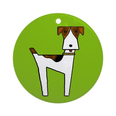 graphic terrier (green) Ornament (Round)