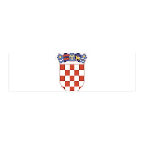 Croatia Arms 36x11 Wall Peel
