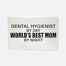 World's Best Mom - Dental Hyg Rectangle Magnet