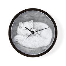 Arctic Fox Family ~ Wall Clock