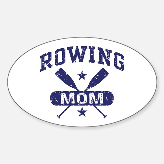 Rowing Mom Sticker (Oval)