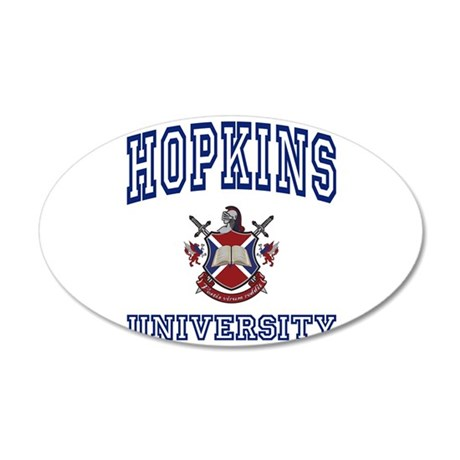 HOPKINS University 20x12 Oval Wall Peel
