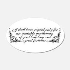 Jane Austen Inspired 20x12 Oval Wall Peel