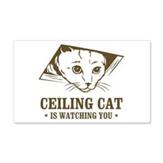 ceiling cat is watching you 20x12 Wall Peel