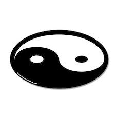 Yin Yang Euro 20x12 Oval Wall Peels