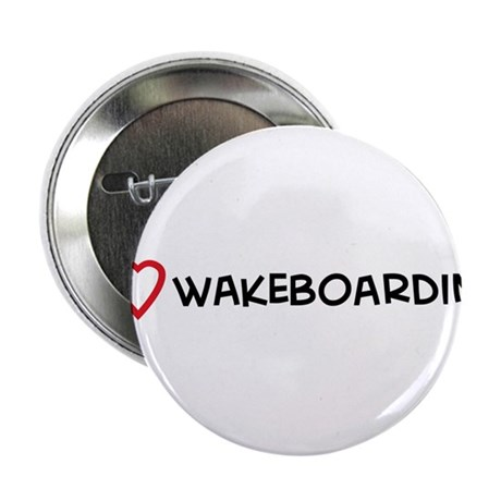I Love Wakeboarding Button