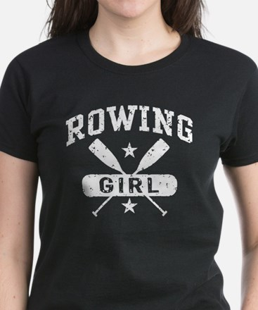 Rowing Girl Women's Dark T-Shirt
