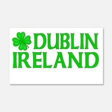 Dublin, Ireland Shamrock 20x12 Wall Peel