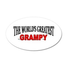 """The World's Greatest Grampy"" 20x12 Oval Wall Peel"