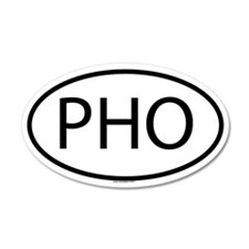 PHO 20x12 Oval Wall Peel