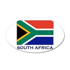 South Africa Flag Stuff 20x12 Oval Wall Peel