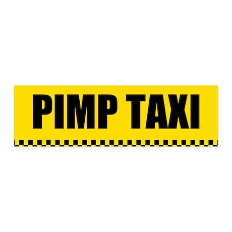Pimp Taxi 36x11 Wall Peel