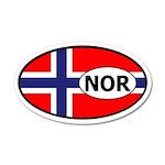 Norway flag 20x12 Oval Wall Peel