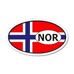 Norway flag 35x21 Oval Wall Peel